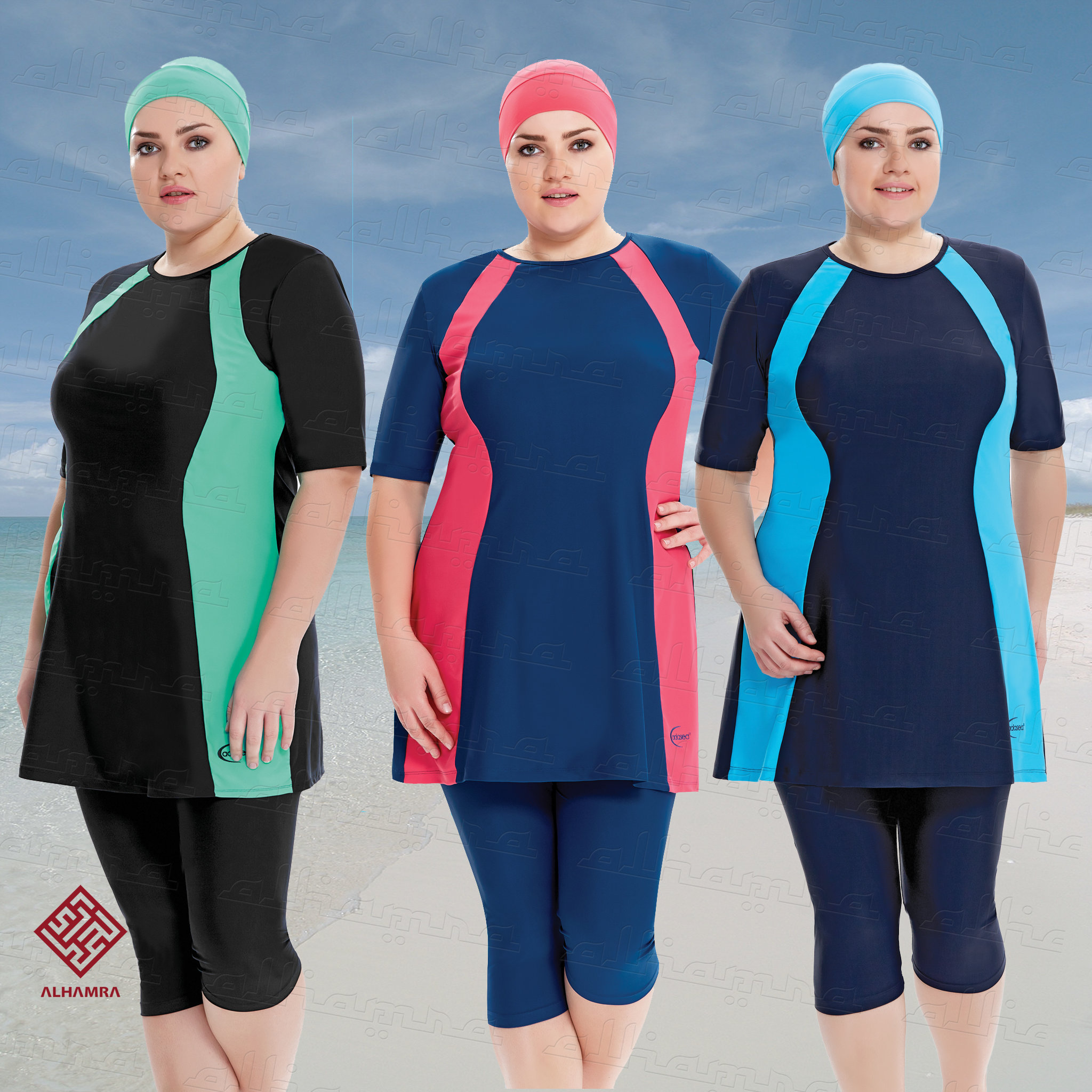 AlHamra Semi Cover Marina Burkini Modest Women Swimsuit ...