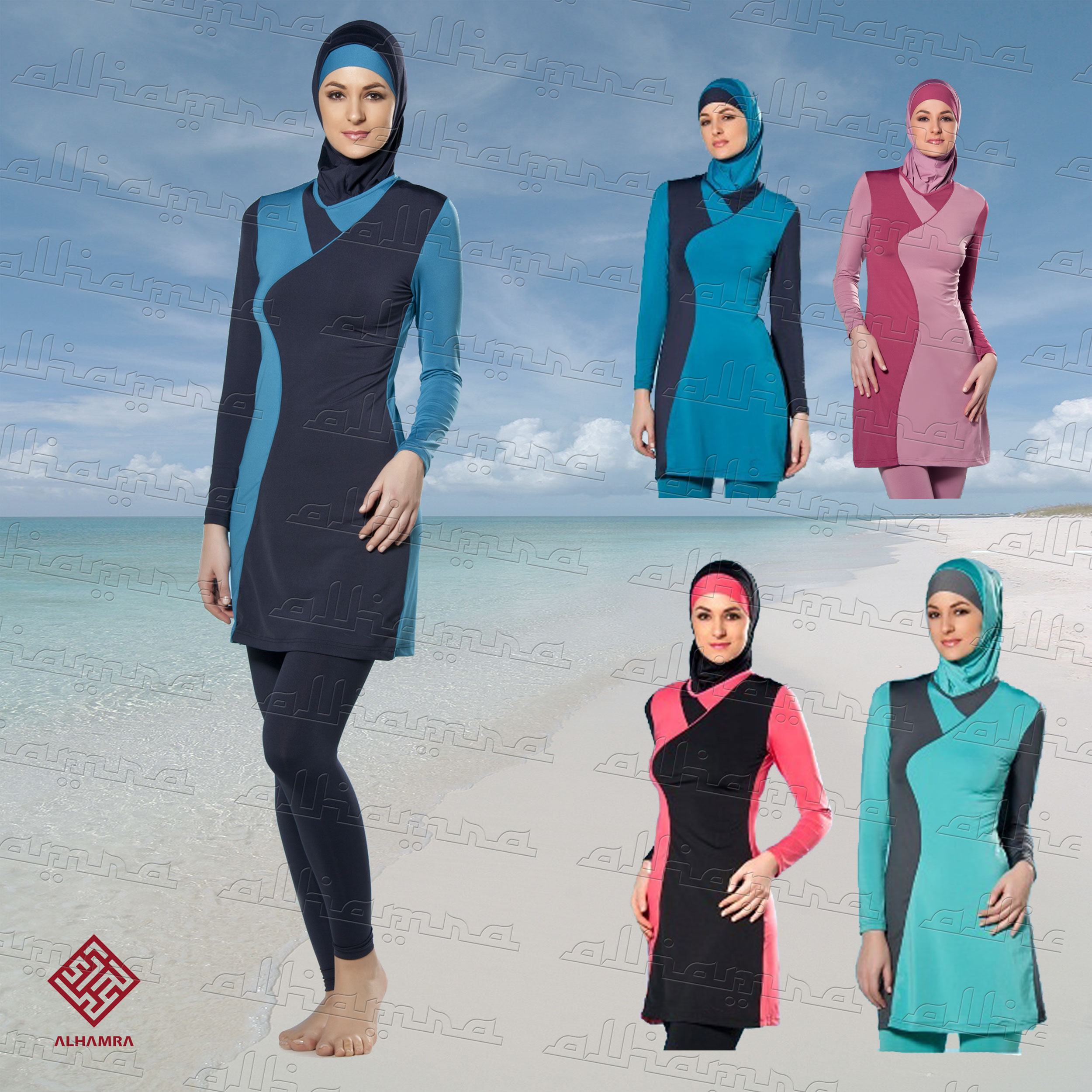 c149d80140f AlHamra Waves Modest Burkini Swimwear Sportwear - Alhamra Swimwear