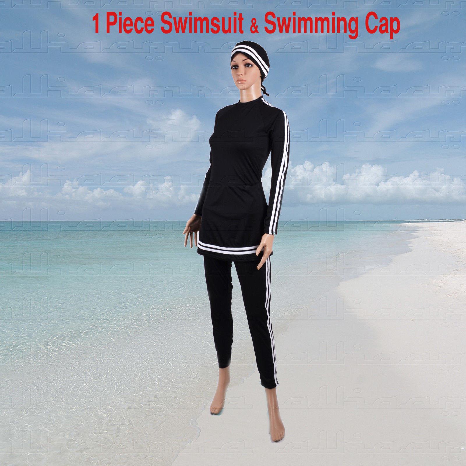 914d74a0f44 AlHamra Bahri 1Piece Modest Burkini Swimsuit Sportswear - Alhamra ...
