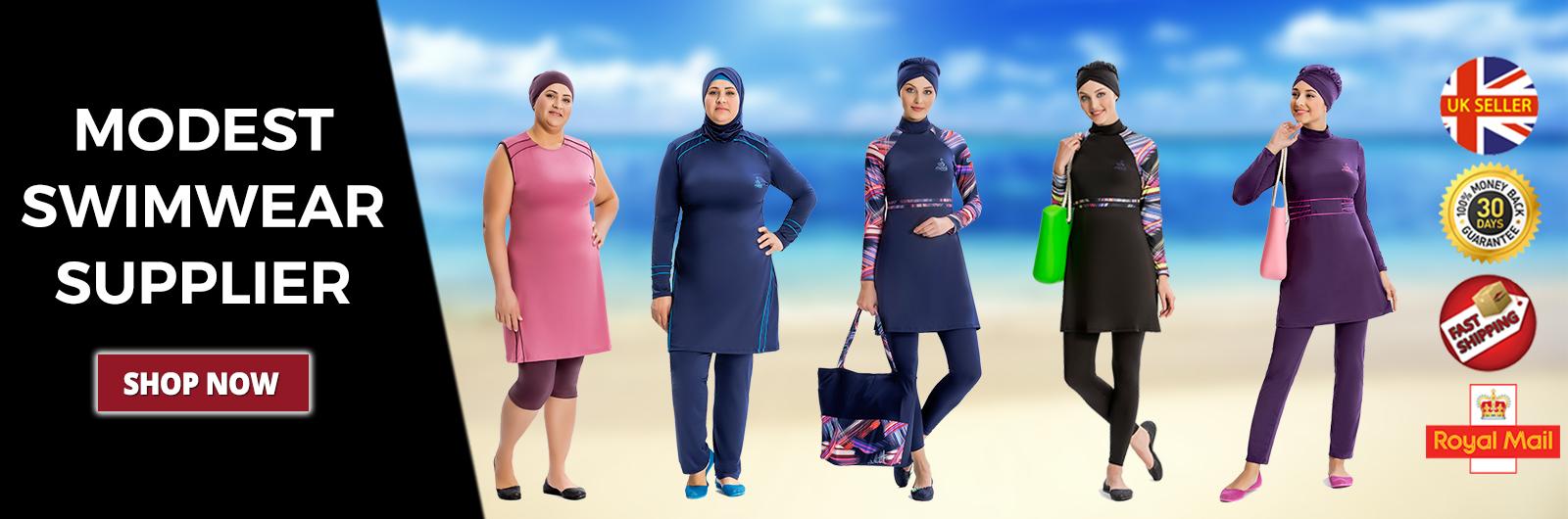 AlHamra Classic Burkini Women Modest Islamic Muslim Swimsuit